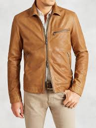 genuine leather motorcycle jacket john varvatos leather motorcycle jacket in brown for men lyst