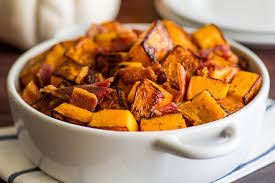 roasted bacon and butternut squash side dish baking mischief