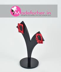 ear studs designs buy black polymer clay ear stud shop fashion earring for women
