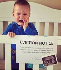 Baby Announcement Meme - funniest memes eviction notice funniest memes pinterest