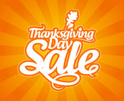 thanksgiving day sale font design vector free vector graphic