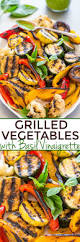grilled vegetables with basil vinaigrette averie cooks