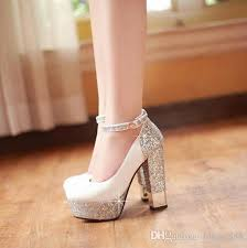 wedding shoes korea hot 2017 european american fashion women leather high heeled