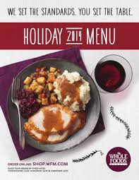 whole foods market south region thanksgiving menu thanksgiving