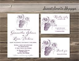 Winery Wedding Invitations Vineyard Wedding Invitation Winery Wedding Invitation Set