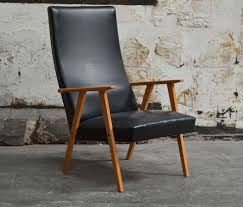 Swedish Wooden High Chair Swedish Mid Century Modern High Back Lounge Armchair For Sale At
