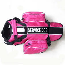 service dog backpack harness vest removable saddle bags with 2