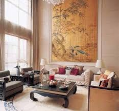 chinese house decor antique dresser and tapestry oriental