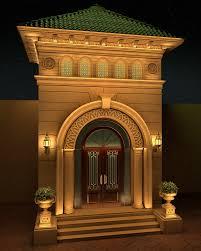 villa classic entrance design on behance