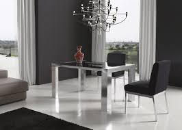 Modern Black Glass Dining Table Brown Leather Dining Chairs Colorful Modern Dining Room White