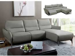 canapé d angle droit pas cher canapé d angle droit relax électrique kristen pas cher cuir gris
