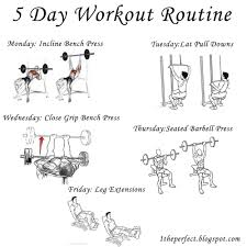 Bench Workout Routine 1 You Can Lose Weight 5 Day Workout Routine