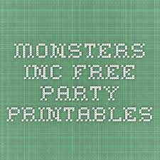 monsters free party printables birthday fun