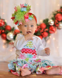 baby girls yuletide christmas tree holiday set