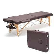 Wooden Folding Bed Professional Portable Spa Tables Foldable With Carring Bag