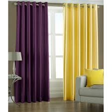 Curtains Set Handloomhub Eyelet Curtains Set Of 2 Purple Yellow And 2018