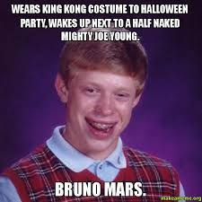 Halloween Party Meme - wears king kong costume to halloween party wakes up next to a