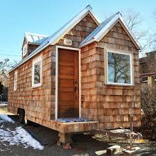 custom cedar shingled tiny house http www tinyhouseliving com