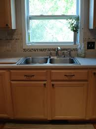 Kitchen Tile Backsplash Installation Installing Glass Tile Backsplash Around Window Tamp Tile On To