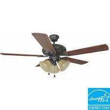 design house bristol 52 in 3 light oil rubbed bronze ceiling fan