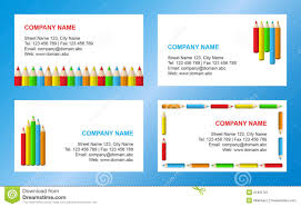 crayons business card template stock image image 21831761