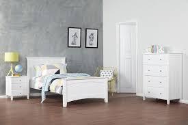oliver white single timber kids bed bedshed