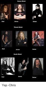 Death Metal Meme - good god god heavy metal jesus thrash metal jesus death metal jesus