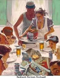 white trash thanksgiving normal rockwell style gentlemint