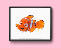 nemo fish drawing etsy