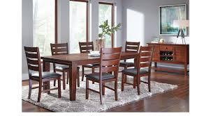 7 Pc Dining Room Sets Lake Tahoe Brown 7 Pc Rectangle Dining Room Traditional