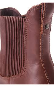 womens ugg ankle boots ugg australia joey leather ankle boot chestnut