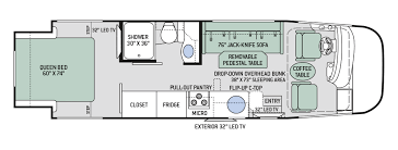 class a rv floor plans bunkhouse rv floor plans four winds class c motorhome floorplans