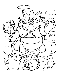 pokemon coloring pikachu eevee friends coloring book