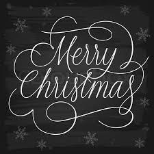 merry christmas slogan chalkboard stock vector
