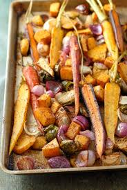 balsamic roasted fall vegetables with sumac