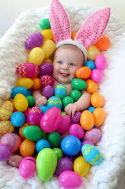 easter egg baby photo idea happy easter from our hunny bunny