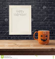 halloween poster mock up template stock photo image 58639729