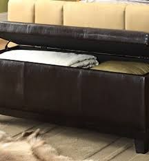 Leather Storage Bench Faux Leather Storage Bench Ottoman In Chocolate Sam Levitz Furniture