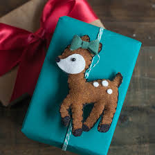 diy deer felt ornaments lia griffith