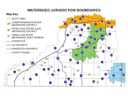 Mn Counties Map Watershed Management Scott County Mn