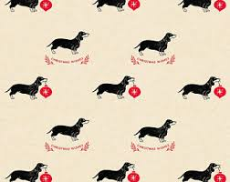 dachshund christmas wrapping paper dachshund christmas wrapping paper set 2 sheets of sausage