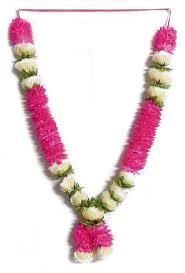 pink flower and light yellow garland silk cloth