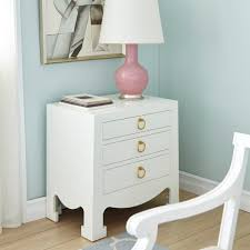 Pink Nightstand Side Table Jacqui 3 Drawer Side Table White Bungalow 5