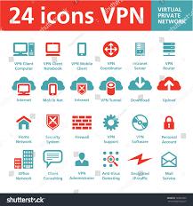 Home Vpn 24 vector icons vpn virtual private stock vector 129601835