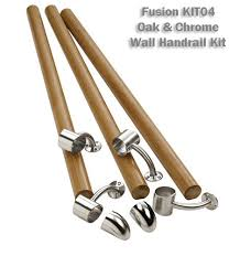 Oak Stair Banister Fusion Wall Handrail Kit Stair Banister Rail Kit