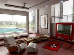 living room modern living room with wall divider for mounted lcd