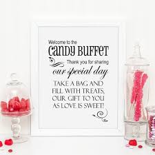 The Candy Buffet by Welcome To The Candy Buffet Wedding Sign Printable Wedding