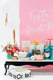 ideas for bridal shower bridal shower gift table ideas crate and barrel