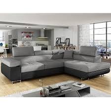 canapé d angle noir et gris canapé d angle convertible avec coffre sofamobili