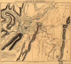Chattanooga Map Sketch Of The Battles Of Chattanooga Civil War Trust